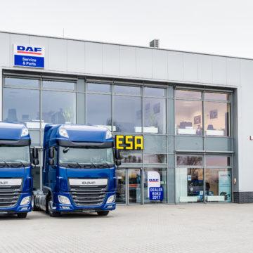 Tytuł Dealer Roku DAF 2017 dla ESA Trucks Polska w Iłowej