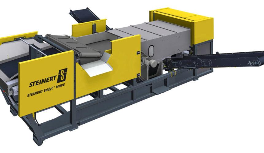 STEINERT EddyC MOVE –separacja metali żelaznych i nieżelaznych bez ograniczeń