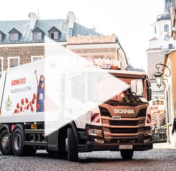 Śmieciarki Scania CNG dla Kom-Eko