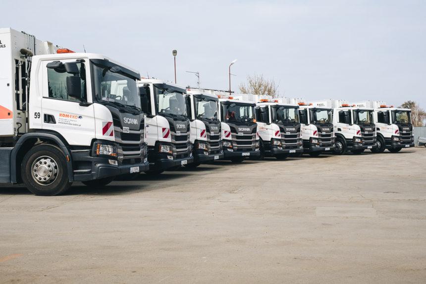 Kom-Eko S.A. zwiększa flotę śmieciarek Scania na CNG