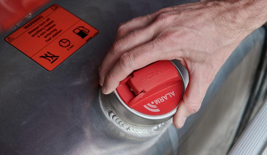 Nowy alarm Scania chroni przed kradzieżą paliwa
