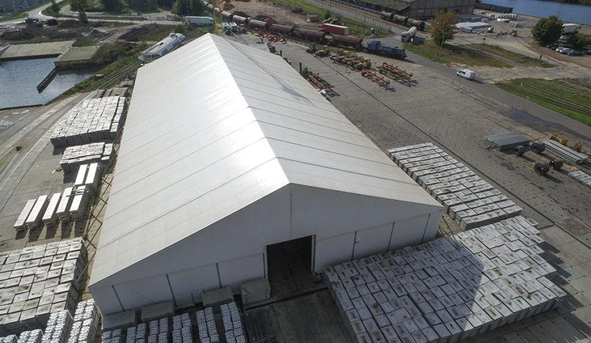 Wieloletnie hale namiotowe do zastosowań komunalnych