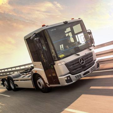 Testy przedprodukcyjne elektrycznego pojazdu komunalnego Mercedes-Benz eEconic